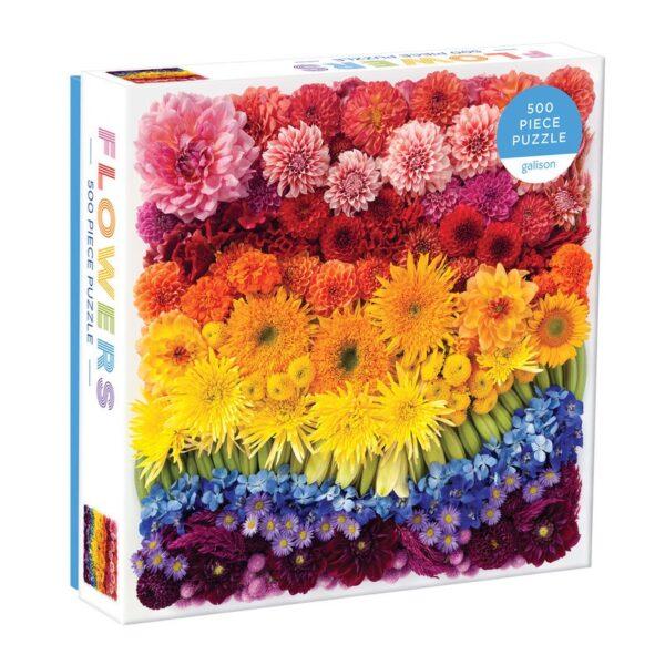 Rainbow Summer Flowers 500 Piece Jigsaw Puzzle