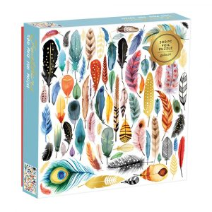 Feathers 500 Piece Foil Jigsaw Puzzle