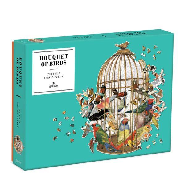 Ben Giles Bouquet of Birds 750 Piece Shaped Jigsaw Puzzle