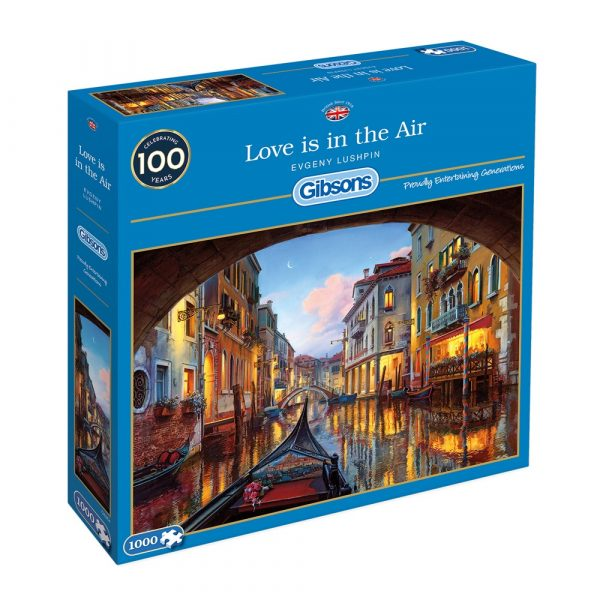 Evgeney Lushpin's Love is in the Air 1000 piece jigsaw puzzle from Gibsons
