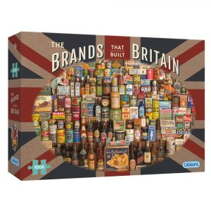 Richard Opie's The Brands That Built Britain 1000 piece jigsaw puzzle from Gibsons