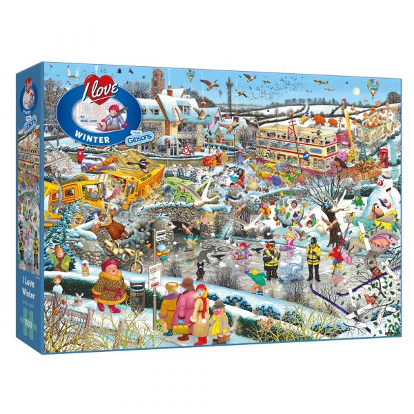 Mike Jupp's I Love Winter 1000 piece jigsaw puzzle by Gibsons