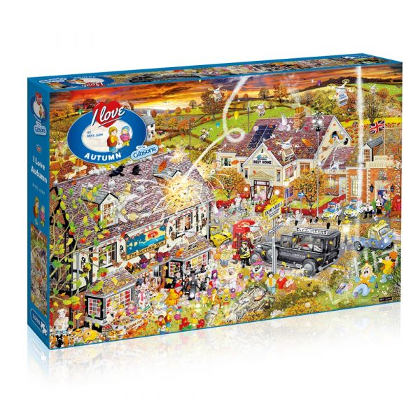 Mike Jupp's I Love Autumn 1000 piece jigsaw puzzle by Gibsons