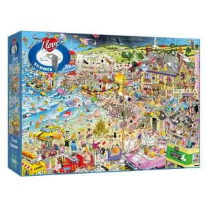 Mike Jupp's I Love Summer 1000 piece jigsaw puzzle from Gibsons