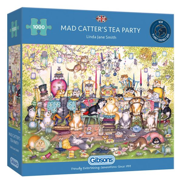 Mad Catters Tea Party Gibsons 1000 piece jigsaw puzzle