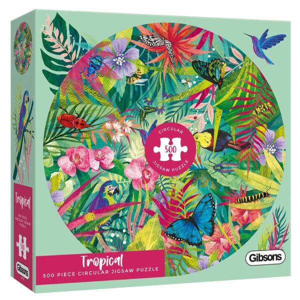 Tropical 500 piece circular jigsaw puzzle