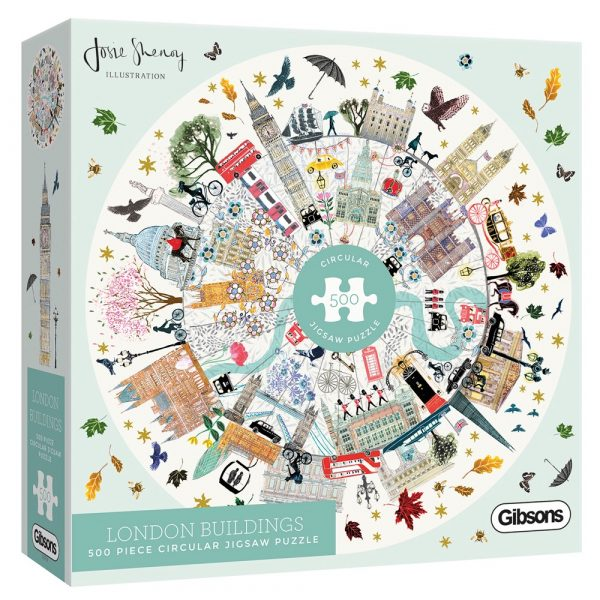 London Buildings 500 piece circular jigsaw puzzle