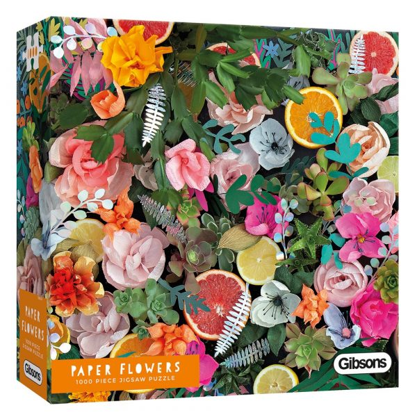 Rachel Waring's Paper Flowers 1000 piece jigsaw puzzle by Gibsons