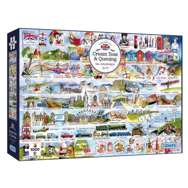 Cream Teas and Queuing 1000 Piece Jigsaw Puzzle