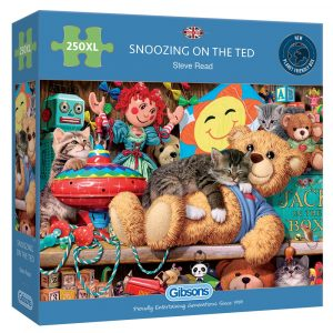 Snoozing on the Ted 250 XL Piece Jigsaw Puzzle
