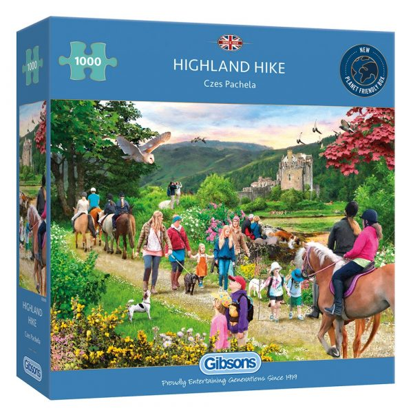 Highland Hike 1000 Piece Jigsaw Puzzle