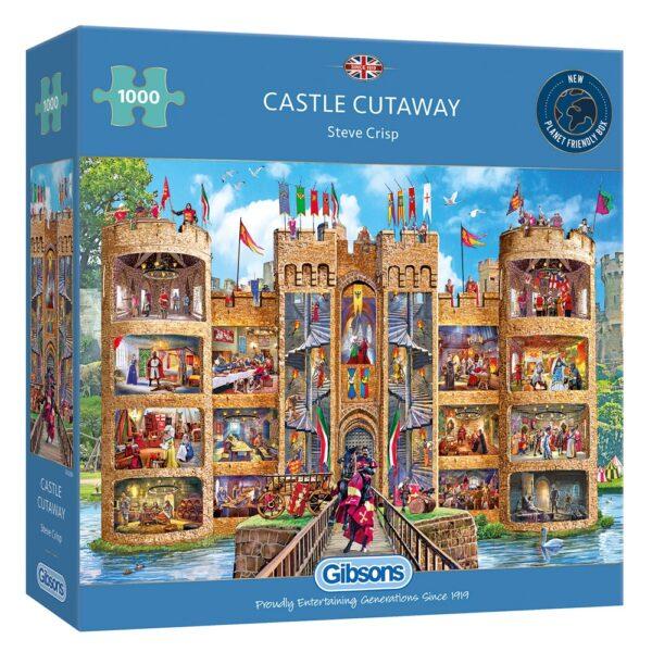 Castle Cutaway 1000 Piece Jigsaw Puzzle