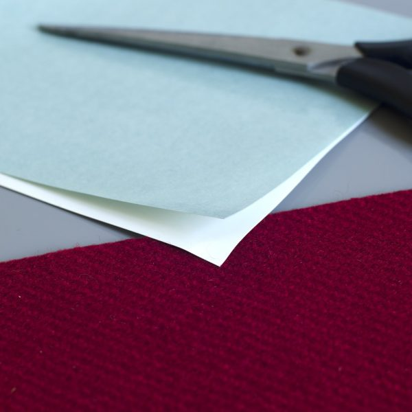 Double sided self adhesive sheets for fabric