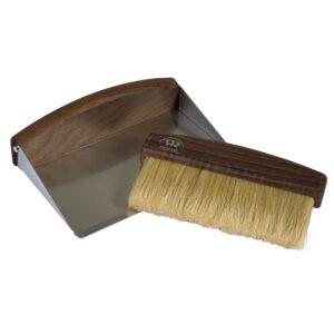Redecker table sweeping set dark wood
