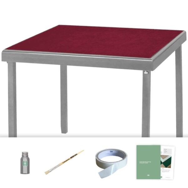 burgundy baize card table recovering kit