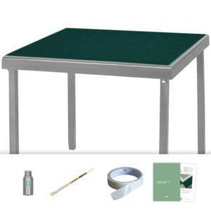 dark cedar green baize card table recovering kit