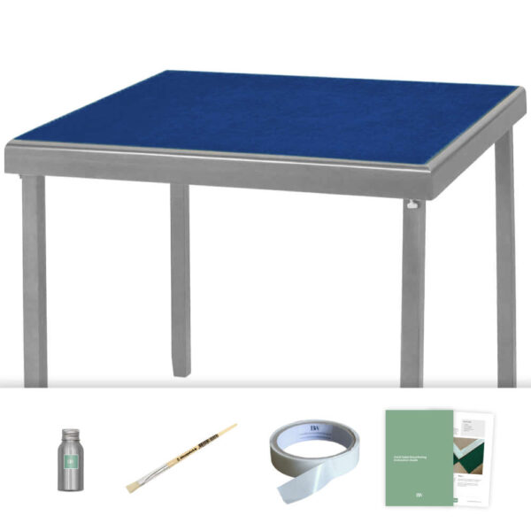 royal blue baize card table recovering kit
