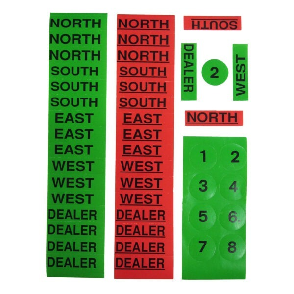 Genuine Jannersten Replacement Stickers for Duplicate Boards, Round Numbers