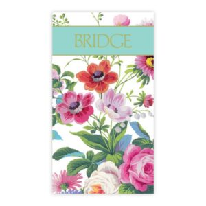 caspari bridge scorecards edwardian garden
