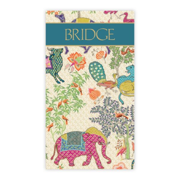caspari bridge scorecards le jardin de mysore