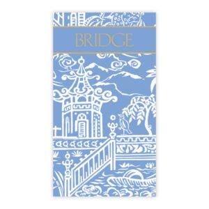 caspari bridge scorecards pagoda toile