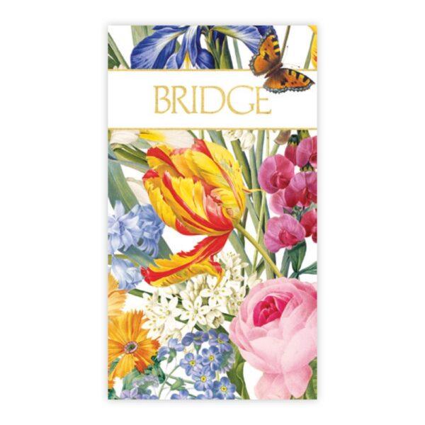 caspari bridge scorecards redoute floral