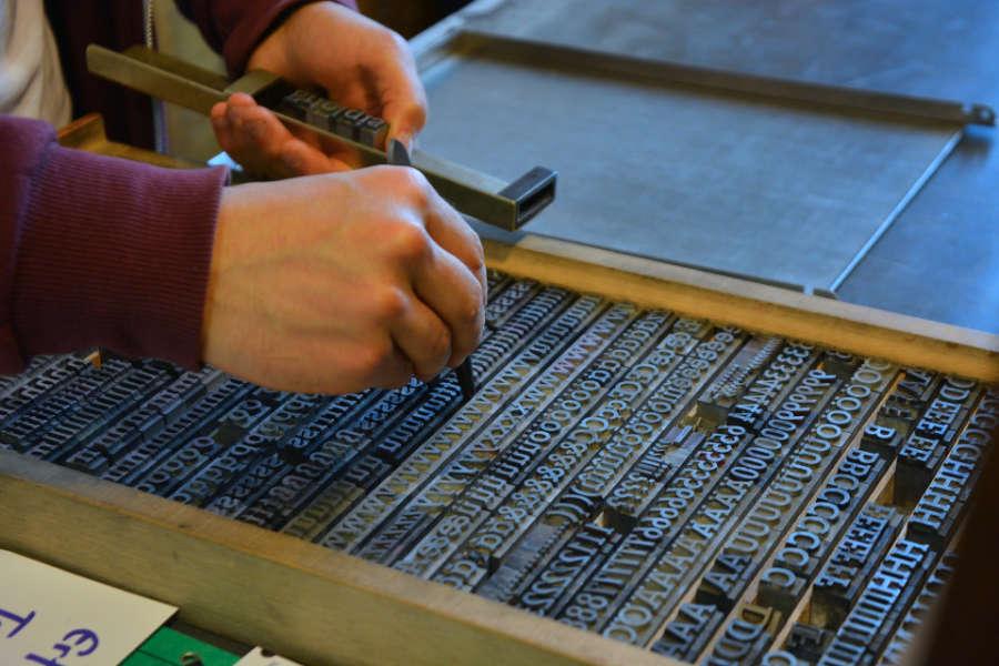 typesetting letter press