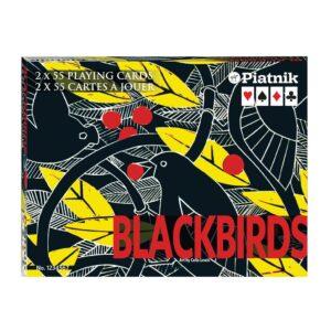 Celia Lewis' Blackbirds playing cards by Piatnik