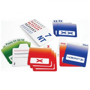 Plastic Replacement Bidding Cards - Set of 4