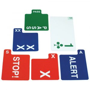 Jannersten 100% Plastic Replacement Bidding Cards - Single