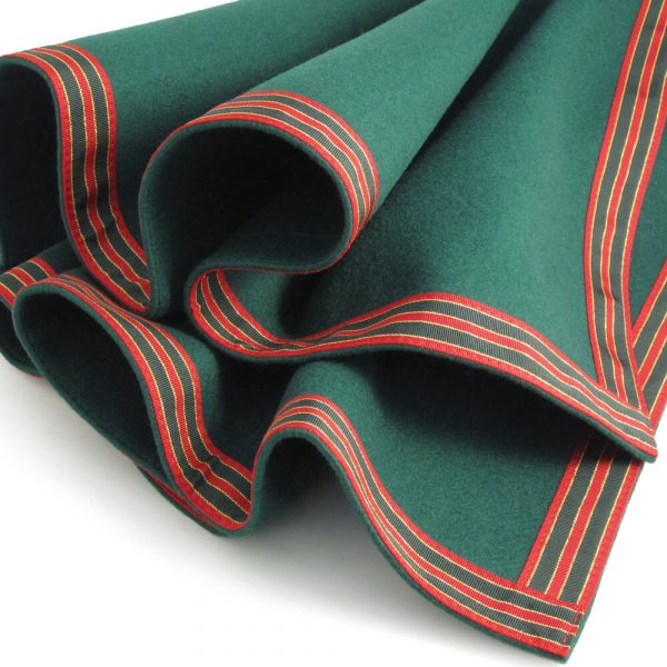 Green Baize Bridge Cloth with Petersham Border