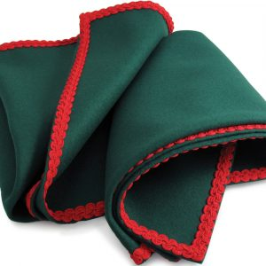 Green Baize Bridge Cloth with Red Braid
