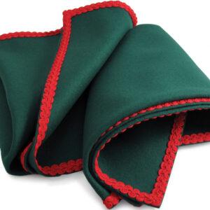 Green Baize Bridge Cloth with Red Braid