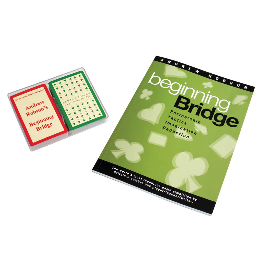 Beginning Bridge by Andrew Robson Book and Arrow Cards