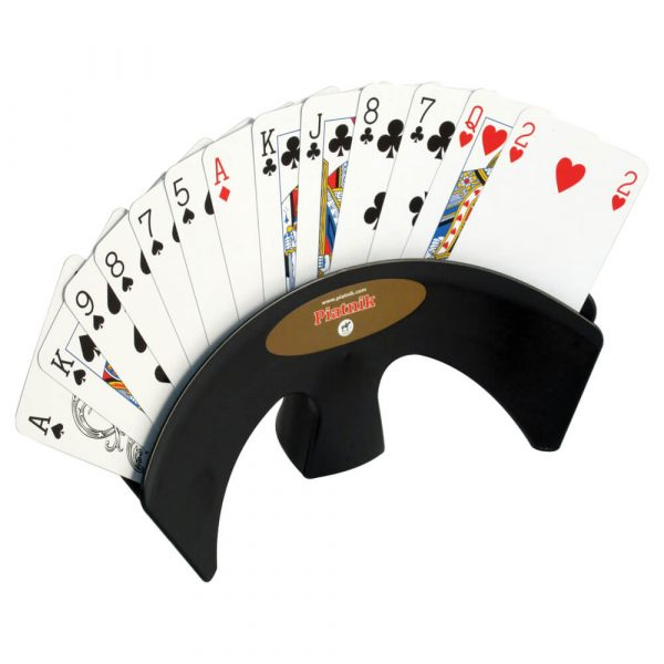 Deluxe Table Playing Card Holder - Black