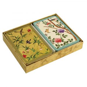 Caspari Playing Cards - Chinese Wallpaper