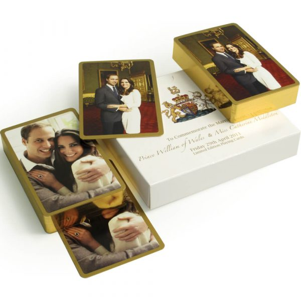 William and Kate Playing Cards - Limited Edition Gilt Edged Playing Cards