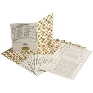 Simon Lucas Set of 12 Bridge Tally Cards - Harlequin
