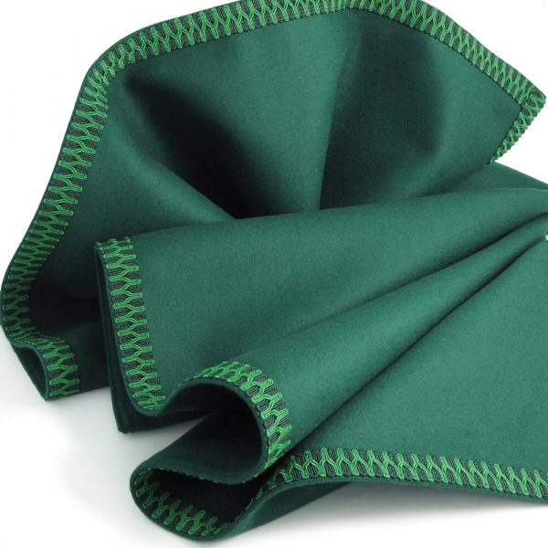 Green Baize Bridge Cloth with Green Braid