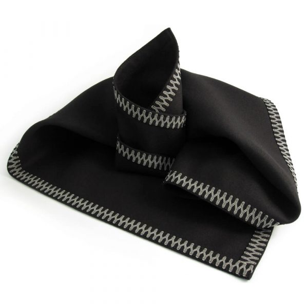 Black Baize Cloth - Black/Pewter Braid