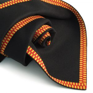 Black Baize Bridge Cloth – Red / Yellow Braid