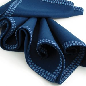 Navy Blue Baize Bridge Cloth - Navy/Sky Blue Braid