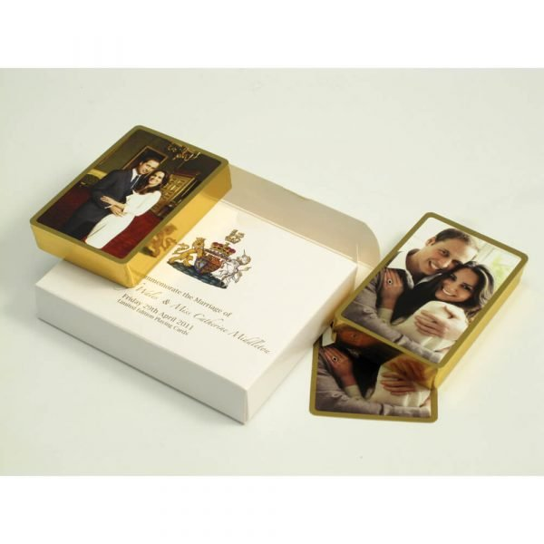 William and Kate - Limited Edition Gilt Edged Playing Cards