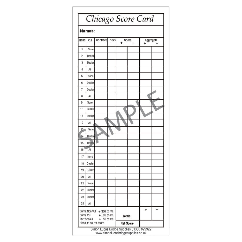 This is a graphic of Printable Bridge Score Sheets in gymnastics score