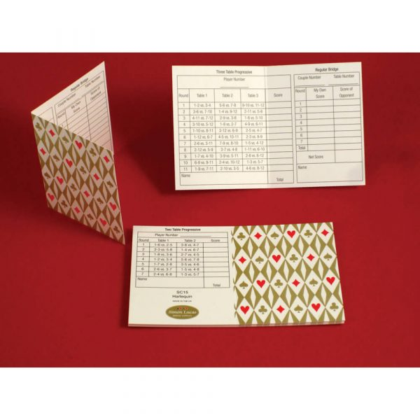 Simon Lucas Set of 12 Tally Cards - Harlequin