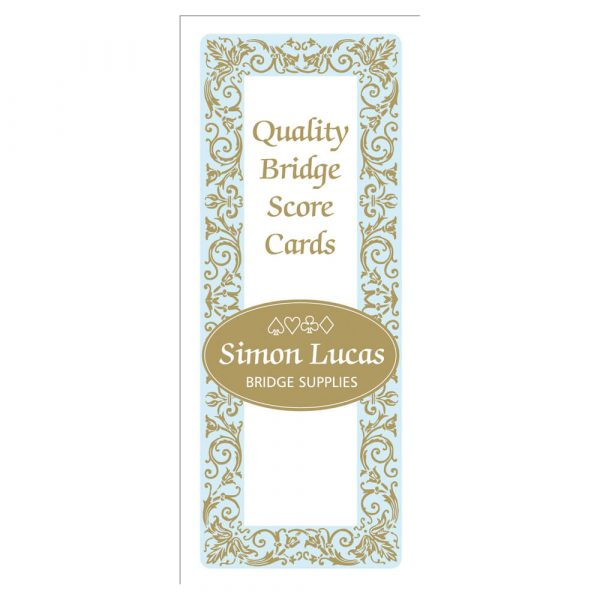 Simon Lucas Score Pad with Decorative Cover - Rubber Bridge